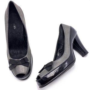 Aerosoles 9M Bow Peep Toe Comfort Dress Pumps